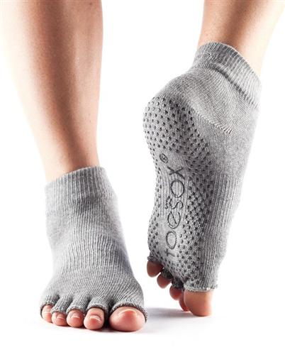 Half Toe Ankle Grip - heather grey