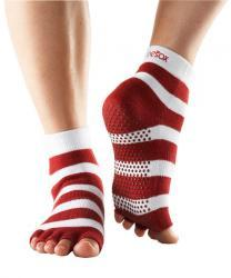 Half Toe Ankle Grip - red/white stripe