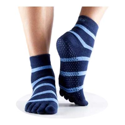 Full Toe Ankle Grip - blue/blue stripe